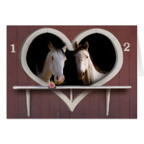 Horse Lovers Valentine Photo Card