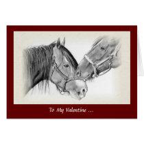 Horse Lovers Valentine, Wanna Horse Around, Pencil Card