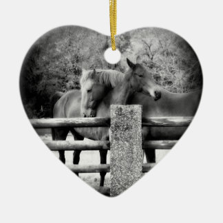 Horse Lovers Wedding or Anniversary Heart Ornament