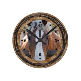 Horse Lovers Western Clock