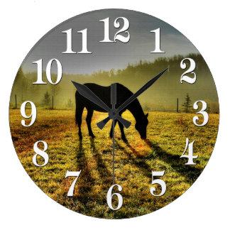 Horse-lovers Western Theme Horse Designer Gift Large Clock