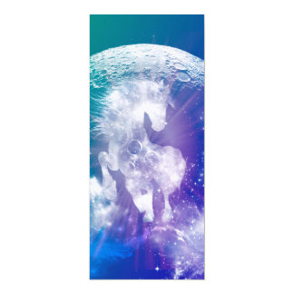 Horse made of nebulas and clouds in the universe 4x9.25 paper invitation card