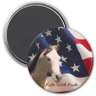Horse Magnet American Flag