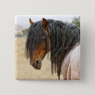 Horse Mane Pinback Button