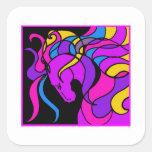 Horse Mania Square Sticker