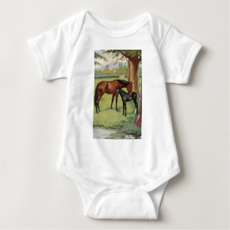 Horse Mare Foal Equestrian Vintage Image T Shirt