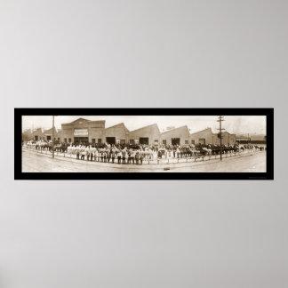 Horse Market Omaha NE Photo 1914 Print
