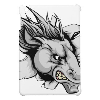 Horse mascot breaking through wall cover for the iPad mini