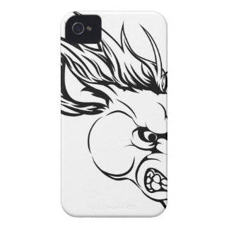 Horse mascot character iPhone 4 covers
