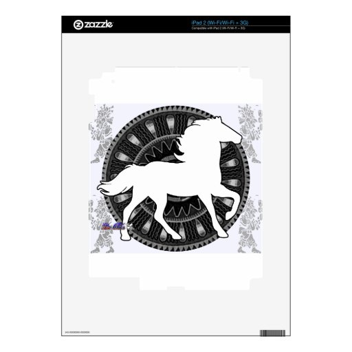 HORSE MAYA CUSTOMMIZABLE PRODUCTS DECALS FOR THE iPad 2