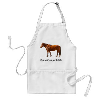 HORSE MEAT GIVES YOU THE TROTS ADULT APRON