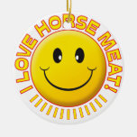 Horse Meat Smile Double-Sided Ceramic Round Christmas Ornament