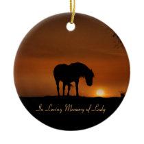 Horse Memorial Christmas Ornament Custom Name