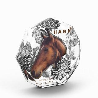 Horse Memorial Keepsake Celebration Of Life Acrylic Award