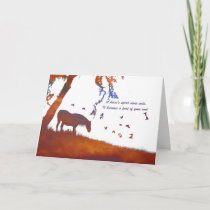 Horse Memorial, Loss of Horse Sympathy Card