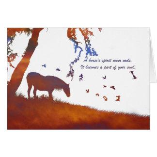 Horse Memorial, Loss of Horse Sympathy Card