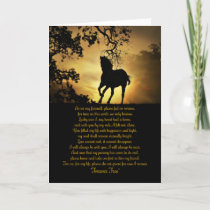 Horse Memorial Original Poem Card