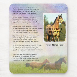 Horse Memorial Rainbow Bridge for Horse Customize Mouse Pad