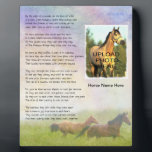 "Horse Memorial Rainbow Bridge for Horse Customize Plaque<br><div class=""desc"">Add your horse&#39;s photo and name to this plaque.  Rainbow Bridge poem written especially for horses.</div>"
