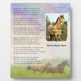 Horse Memorial Rainbow Bridge for Horse Customize Display Plaques