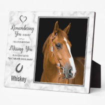 Horse Memorial Remembrance Horse Loss Photo Plaque