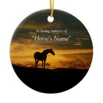 Horse Memorial Tribute Spiritual Ceramic Ornament