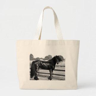 Horse modelling jumbo tote bag