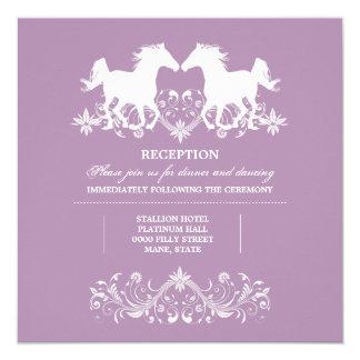Horse modern silhouette floral swirls card