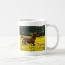 horse mom and baby coffee mug