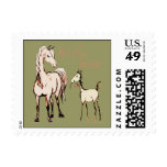 Horse Mom Postage Stamp