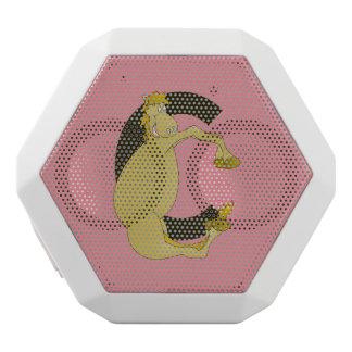 Horse Monogram Letter C White Bluetooth Speaker