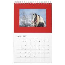 HORSE MONTHLY PLANNING CALENDAR