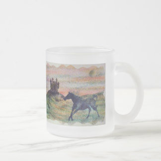Horse Moon & Castle Frosted Glass Mug