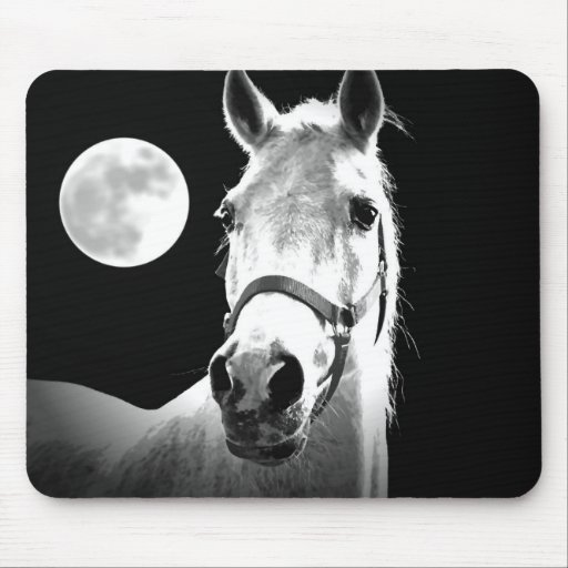 Horse & Moon Mouse Pad