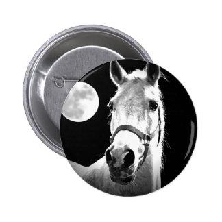 Horse & Moon Pinback Button