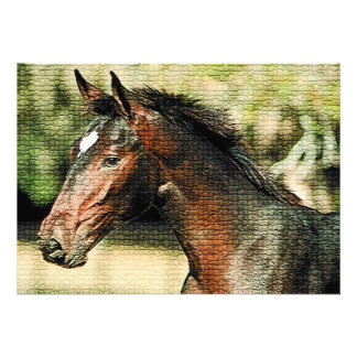 Horse Mosaic Tiles Invitation