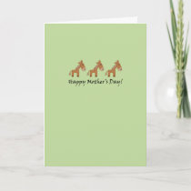 Horse Mother Day's Card