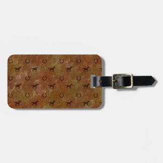 Horse Motif Travel Bag Tag