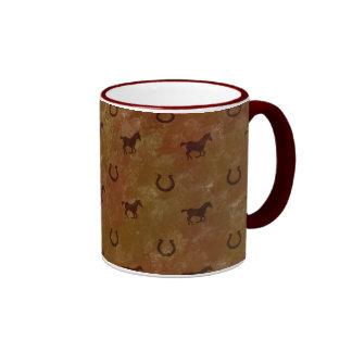 Horse Motif Coffee Mug