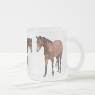 Horse 10 Oz Frosted Glass Coffee Mug