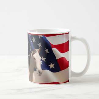 Horse Mug American Flag