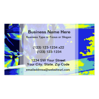 horse muzzle with hay fence blue yellow graphic business card templates
