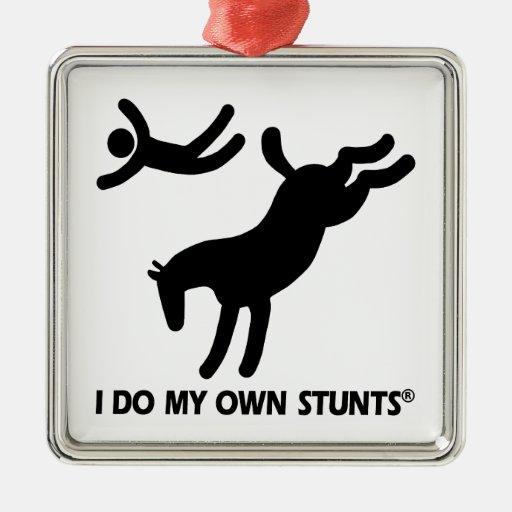 Horse My Own Stunts Christmas Tree Ornament