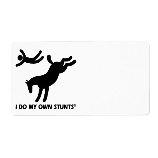 Horse My Own Stunts Personalized Shipping Label