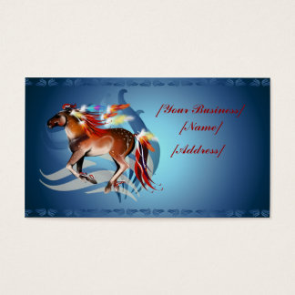 Horse N Bright Feathers Business Card