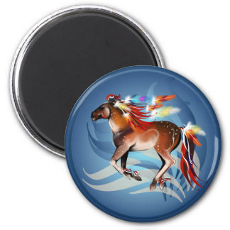 Horse N Bright Feathers Magnet
