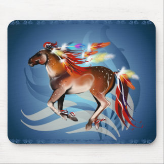 Horse N Bright Feathers Mousepad