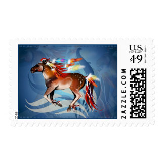 Horse N Bright Feathers  Postage