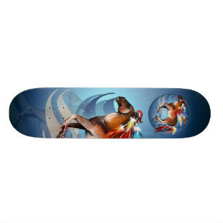 Horse N Bright Feathers Skateboard