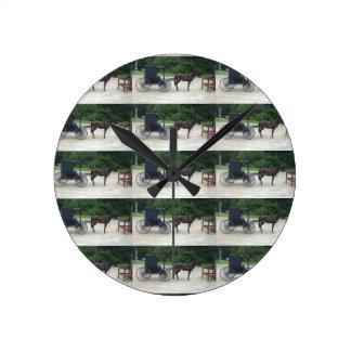 Horse-n-Buggy Acrylic Wall Clock